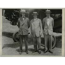 1929 Press Photo W.U. Moyer J.L. Banham and Walter Addicts make aerial survey