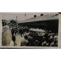 1927 Press Photo Nogales Arizon Senora Calles President Mexico Infantry
