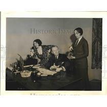 1931 Press Photo John McBride Marcells Shields Helene Handin Margie The Steno