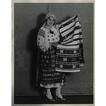 1929 Press Photo Rumanian woman, Miss Helen Cabas