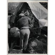1937 Press Photo Site of plane crash of EB Christopher, EA Crumm in Calif.