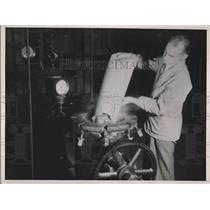 1937 Press Photo Sawdust Into Digester Manufacturing Factory - nea64612