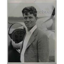 1938 Press Photo Mr Joe Jacobson & his aircraft