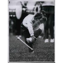 1960 Press Photo Debbie Marinese, Five Year Drum Majorette at Detroit Lions Game