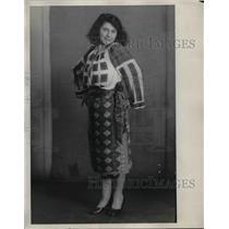 1929 Press Photo Rumanian woman, Miss Constance Borza