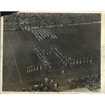 1926 Press Photo Harvard and Dartmouth bands Cambridge Stadium