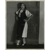 1929 Press Photo Rumanian woman, Miss Mary Moga