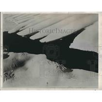 1933 Press Photo Taylor Glacier Antarctica Lake Benney Expedition - nea64518