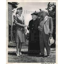 1947 Press Photo At Nauvoo III Mrs. Mabel YOung Sanborn Dorothy Lundgren Steward
