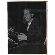 1937 Press Photo Charles Hooper Couer D'Alene Idaho Newspaper Editor