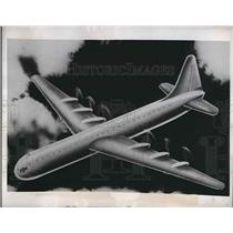 1945 Press Photo Artist Drawing of XC 99, Troop Transport Plane, Army Air Force