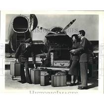 1936 Press Photo The Giant Studebaker President's Luggage Compartments.