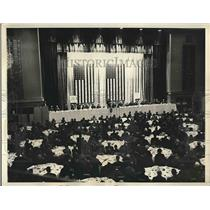 1934 Press Photo AP luncheon at Waldorf Astoria Hotel
