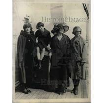 1928 Press Photo Dore J Stuart Blackton Violet Film Producers Returning States