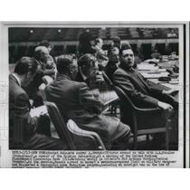 1913 Press Photo Soviet Delegate Andrei A. Gromyko & A.A. Sobolev During Meeting