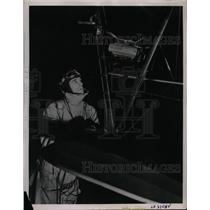 1936 Press Photo Johnny Martin, Boeing school of Aeronautics & his plane
