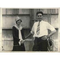 1928 Press Photo Mr & Mrs L.V. Berkner, Byrd expedition member - nea73806
