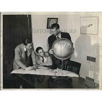 1946 Press Photo Air Carrier Supply Corp Pilots Cunningham McManus & Beasley