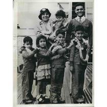 1934 Press Photo Jawad Family, Children Fatina, Joseph, Mohamed, Almud, Mahmud