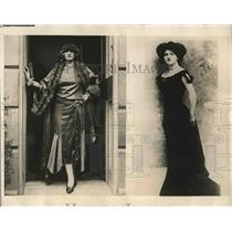 1924 Press Photo Broadway Star Edith Bobe Outside Apartment After Robbery