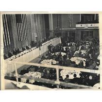 1934 Press Photo Assoc. Press lunch at Waldorf Astoria in NYC - nea73466