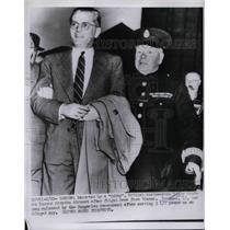 1953 Press Photo Spy Edgar Sanders & wife in Vienna, Austria