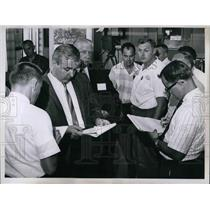 1967 Press Photo Bill Osol, Roy Towne, Sr., Aborting of Jim Bede Aircraft Flight