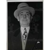 1940 Press Photo William R. Johnson, Chief of Chicago Gambling on Trial.