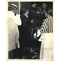 1933 Press Photo Senora Gerardo Machado Escapes Cuba, Wife of Cuban President