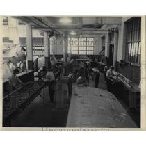 1943 Press Photo Airplane Construction, Aeromechanics Shop at Hadley Vocational
