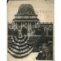 1929 Press Photo George Duss Sworn In As Governor Pennsylvania John Fisher