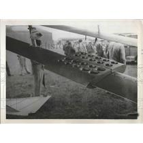 1932 Press Photo meter & measuring instrument on the wing  strut of a plane.