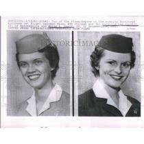 1963 Press Photo Virginia Lee Younkin & Myrna Ewert, Stewardesses Missing Flight