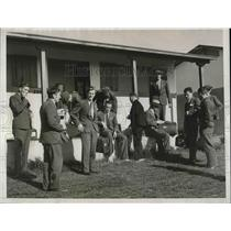 1932 Press Photo Finland's Olympic athletese at their housing in village