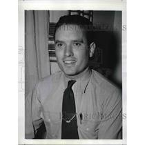 1942 Press Photo United Air Lines Pilot John Lovett Passenger of Crashed Plane
