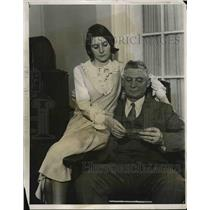 1931 Press Photo Thomas O'Connor, winner of Irish Sweepstakes, & daughter in NY
