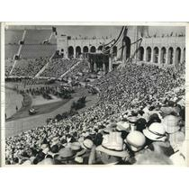 1931 Press Photo Crowds at opening ceremony at LA, Cal Olympic Stadium