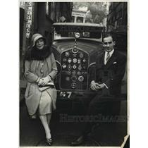 1931 Press Photo Mr and Mrs. Roger Lacor  arriving in Los Angeles