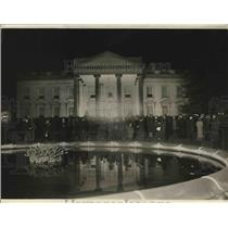 1923 Press Photo First Congregational Church choir in front of White House