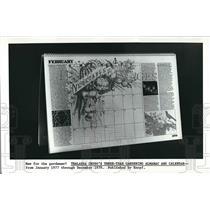 1977 Press Photo Thalassa Cruso's Three Year Gardening Almanac, Calendar