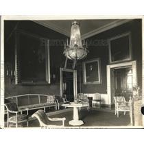 1919 Press Photo a parlor in the White House, Washington DC