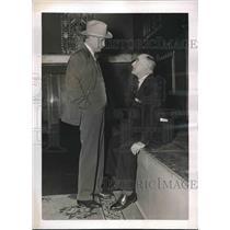 1937 Press Photo A. Carter Of Star-Telegram, W G Chandler Of Scripps-Howard Chat