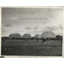 1932 Press Photo National balloon race as the craft inflate