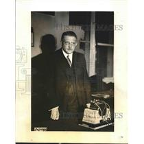 1931 Press Photo Dr. Sigismond Chamieo, Chairman Of Radio League Of Nations