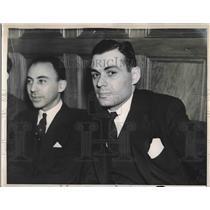 1938 Press Photo Simon W. Gerson, Communist, J. Devaney, M. Whitney, J. McNaboe