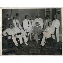 1933 Press Photo Habana Governor Antonio Ruiz & Rafael Gorge Sanches - nea77370