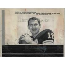 1962 Press Photo Cleveland Browns QB, Frank Ryan