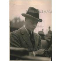 1919 Press Photo Prince of Wales in a reflective mood.