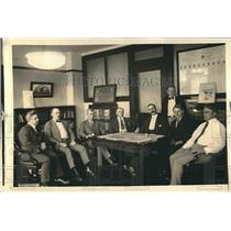 1922 Press Photo Union Vessel Men Meeting with Secretary of Labor Davis Strike