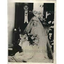 1927 Press Photo Diplomat Alam Obert de Theusies weds daughter of ambassador